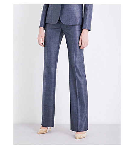 MAX MARA Alessia wool-blend trousers (China+blue