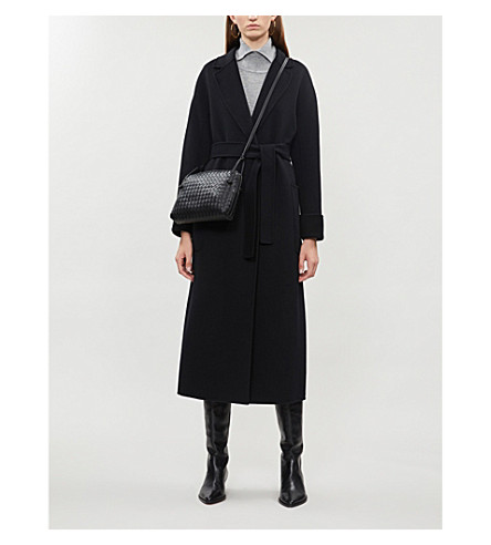S MAX MARA Algeri wool wrap coat Black Original Sale Online Clearance Official Cheap 2018 Newest DbFdxHMHoa