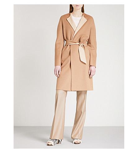 MAX MARA Alice camel hair and wool-blend wrap coat (Camel