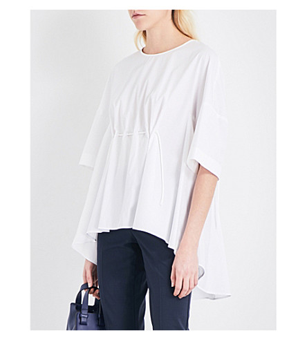 SPORTMAX Aloe cotton-poplin top (White