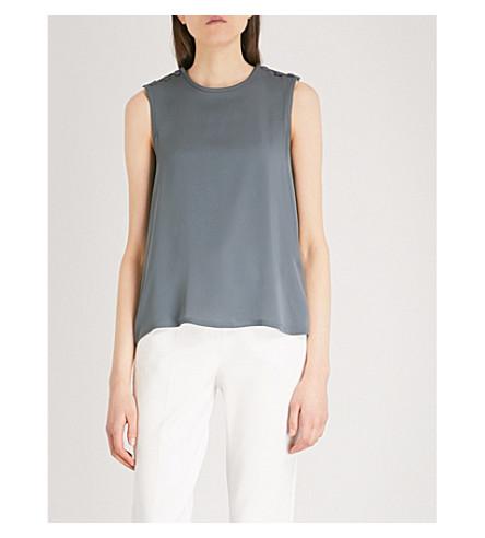 MAX MARA Amato sleeveless silk vest (Grey