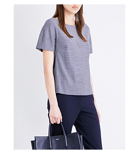 MAX MARA Ares wool-blend top (Navy