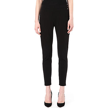 MAX MARA Arianna stretch-cotton trousers (Black