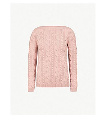MAX MARA 阿尔羊毛和羊绒混纺毛衣 (粉红色