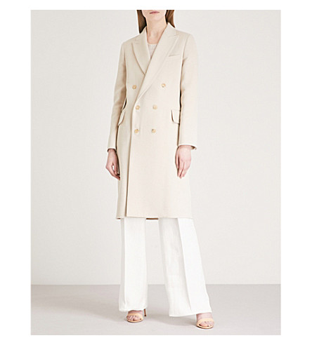 MAX MARA Armonia double-breasted wool and cashmere-blend coat (Sand