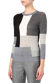 SPORTMAX Knitted geometric jumper