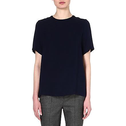 SPORTMAX Astro silk top (Navy