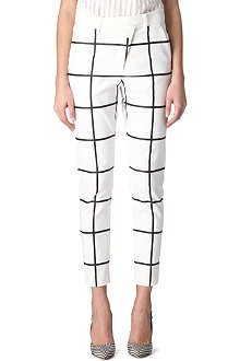 SPORTMAX Asture checked trousers
