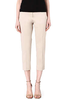 MAX MARA STUDIO Stretch cotton cropped trousers