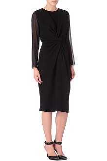 MAX MARA PIANOFORTE Ausonia sheer-sleeve dress