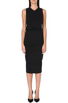 SPORTMAX Avenue panelled stretch-crepe dress