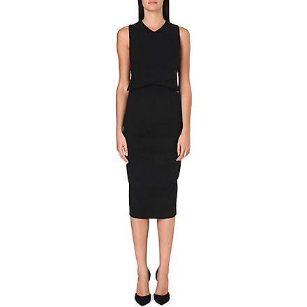 SPORTMAX Avenue panelled stretch-crepe dress (Black