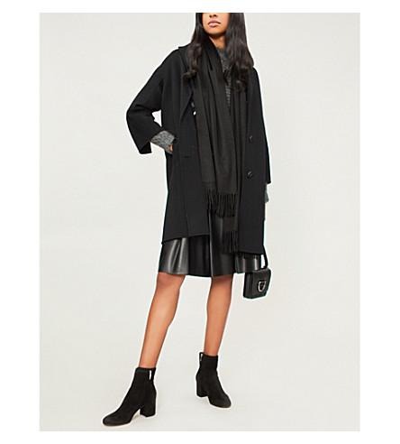 S MAX MARA 阿维拉羊毛大衣 (黑色