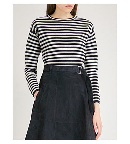 S MAX MARA Bacco wool-blend jumper (Navy+stripe