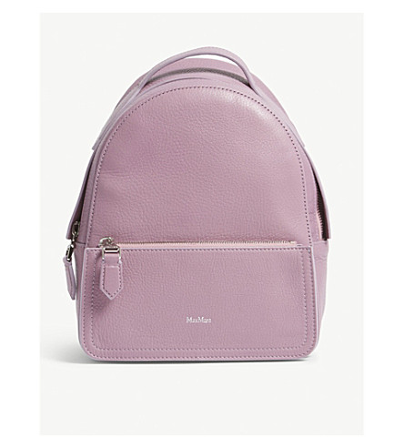 MAX MARA Leather backpack (Lavender