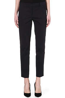 MAX MARA Cropped stretch-cotton trousers