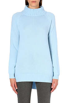 MAX MARA STUDIO Funnel-neck wool and cashmere-blend jumper