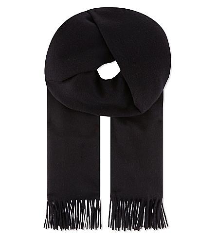 MAX MARA Barbano cashmere scarf (Navy