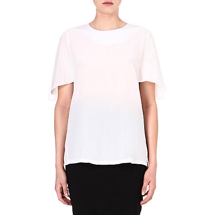 SPORTMAX Bassano cape-sleeve top (White