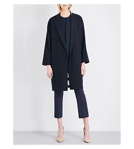 MAX MARA Bath stretch-wool wrap coat (Navy
