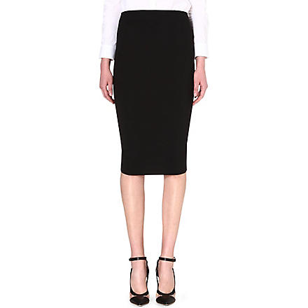 SPORTMAX Bazar stretch-wool pencil skirt (Black