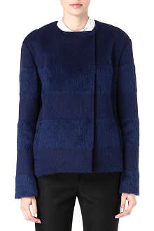SPORTMAX Bergamo striped shearling coat