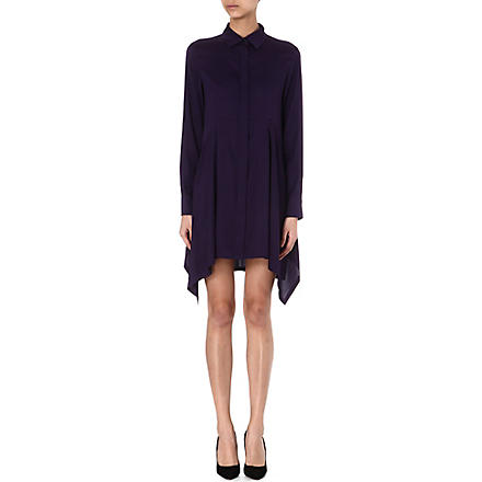 SPORTMAX Oversized silk shirt (Purple