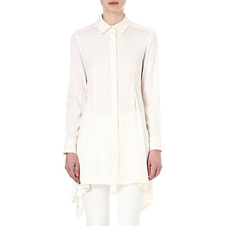 SPORTMAX Oversized silk shirt (White