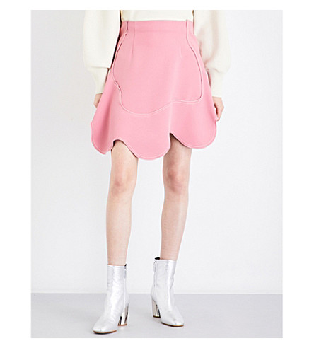 SPORTMAX Blasy mini swirl crepe skirt (Antique+rose