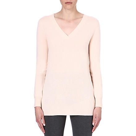 MAX MARA Bonn v-neck cashmere jumper (Powder