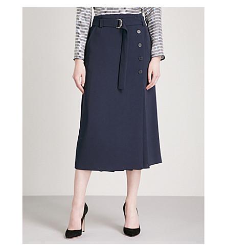 MAX MARA Bormio crepe midi skirt (Navy