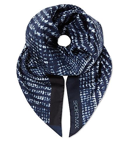 SPORTMAX Bosso silk scarf (Navy