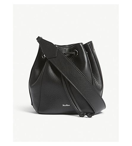 MAX MARA Buckle strap leather shoulder bag (Black