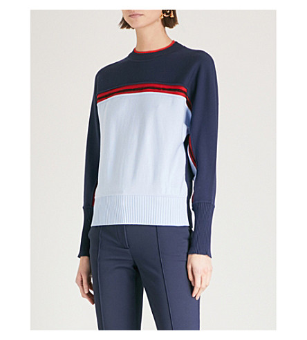 SPORTMAX Cabreo knitted jumper (Blue