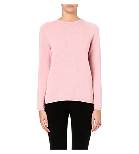 S MAX MARA Knitted cashmere jumper (Pink
