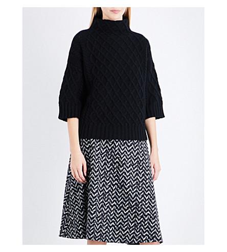 MAX MARA Cantone 羊毛和羊绒混纺毛衣 (黑色