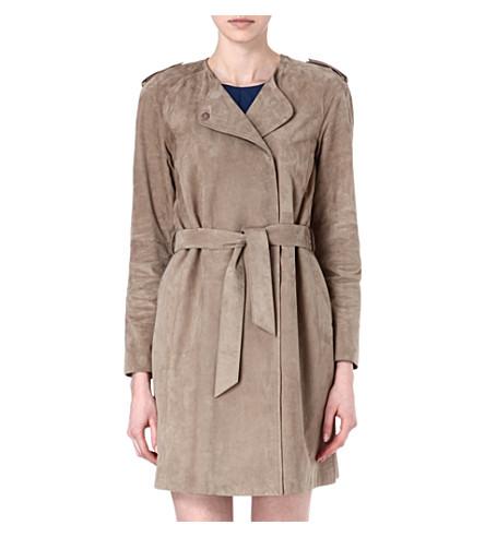 S MAX MARA Capua leather coat (Beige