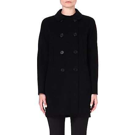 S MAX MARA Caramba double-breasted funnel coat (Black