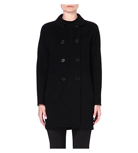 S MAX MARA Caramba double-breasted funnel coat (Black