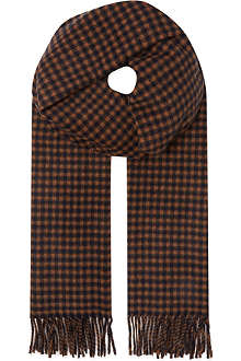 MAX MARA Checked cashmere & wool scarf