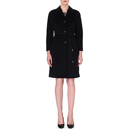MAX MARA STUDIO Ceci belted cashmere coat (Black