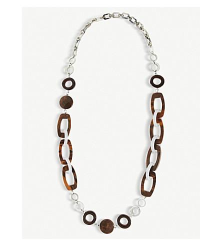 S MAX MARA Resin necklace (Grey