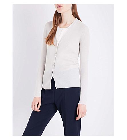 MAX MARA Celebre lurex wool-blend cardigan (Ivory