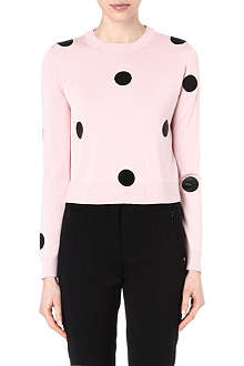 SPORTMAX Cervino polka-dot silk jumper