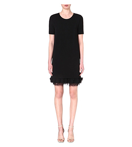 MAX MARA STUDIO Cleofe frilled-hem dress (Black