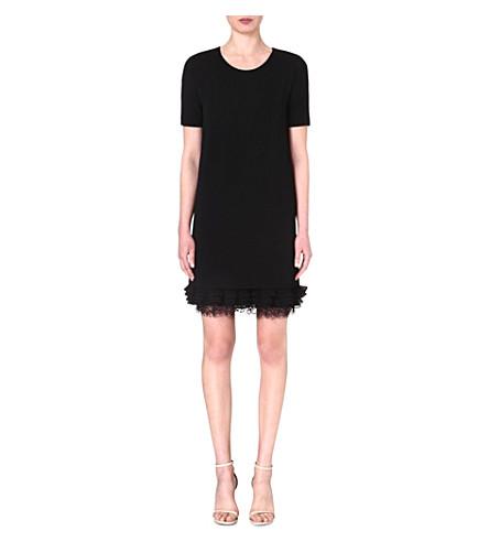 MAX MARA STUDIO Cleofe frilled-hem dress (Black