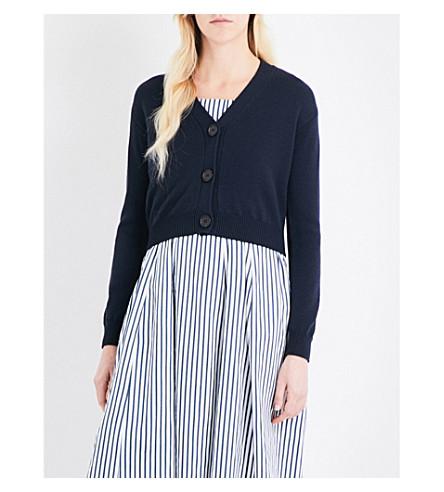 S MAX MARA Clivia cropped wool cardigan (Navy