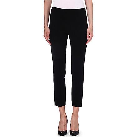 MAX MARA Skinny crepe trousers (Black