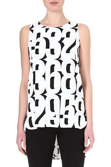 SPORTMAX Number-print tunic top