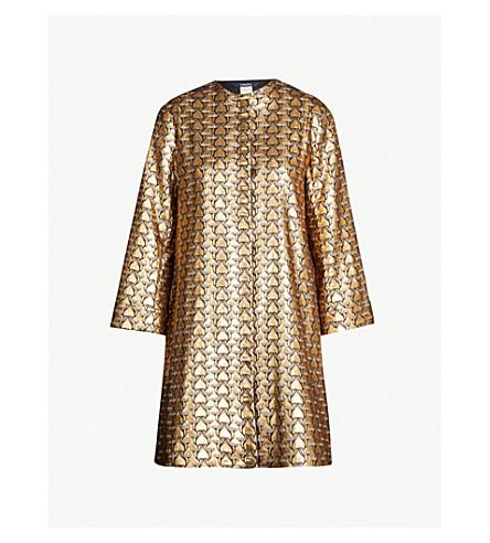 S MAX MARA Cottage oversized stretch-wool tunic (Gold